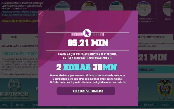 Colombia: Gobierno en línea, una relación más fácil y rápida del ciudadano con el Estado.